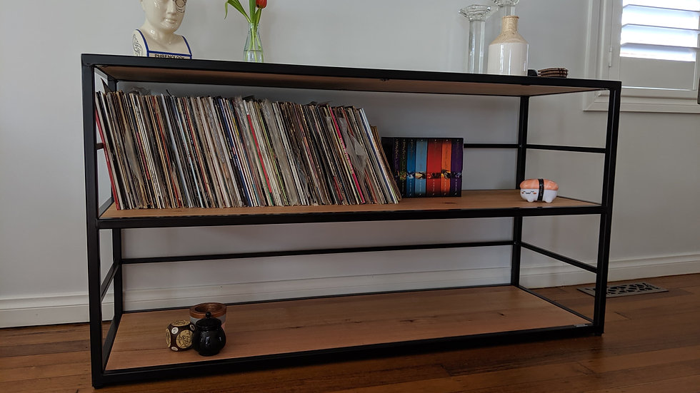 Handmade Vinyl Storage Shelves (Powder Coated)