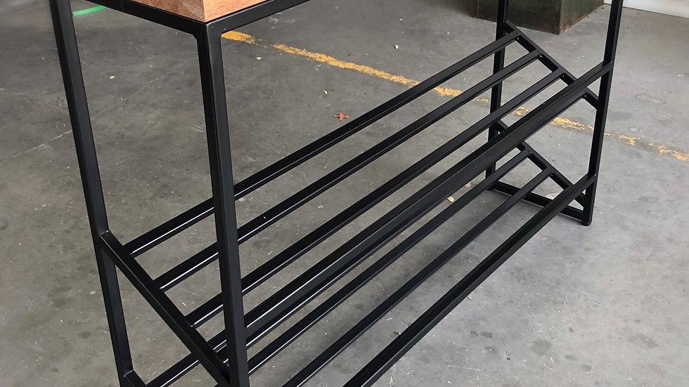 Convenient hallway table with doble shoe rack.