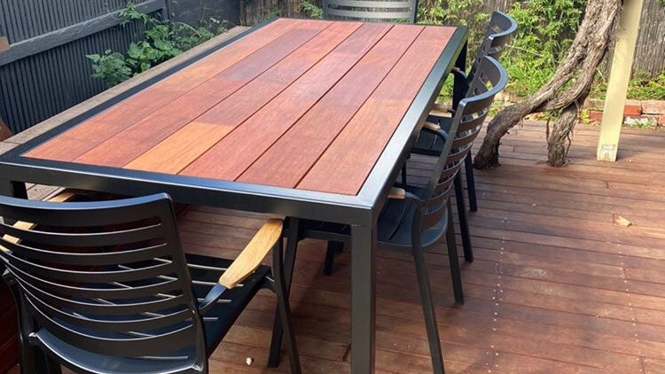 Gorgeous handmade outdoor dining table(Free delivery northern suburbs Melbourne)