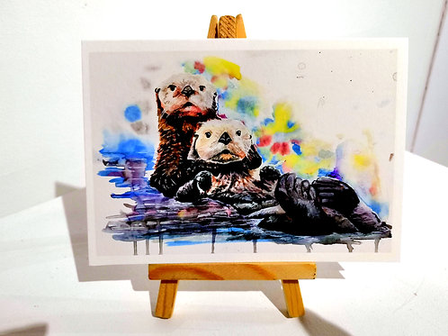 Wildlife Narrative in Colour Greeting Card