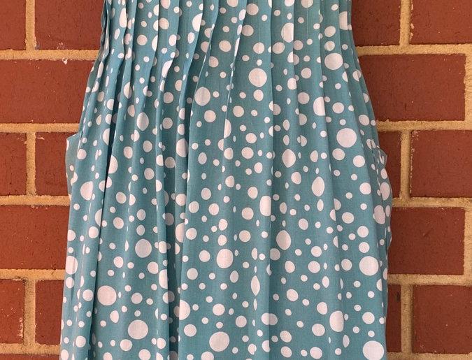 Pintuck Dress -Liberty Blue