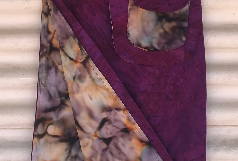 Reversible Skirt - Abstract Purple