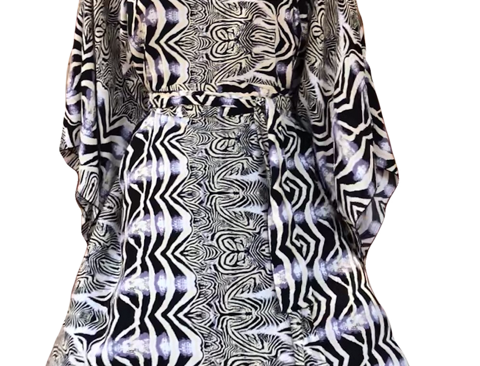 4 Way Angel Dress - Zebra Rock