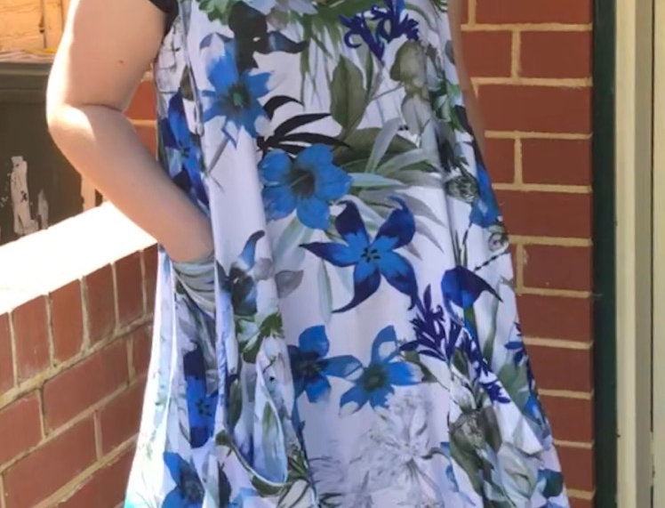 Tulip Dress - Blue Lillies
