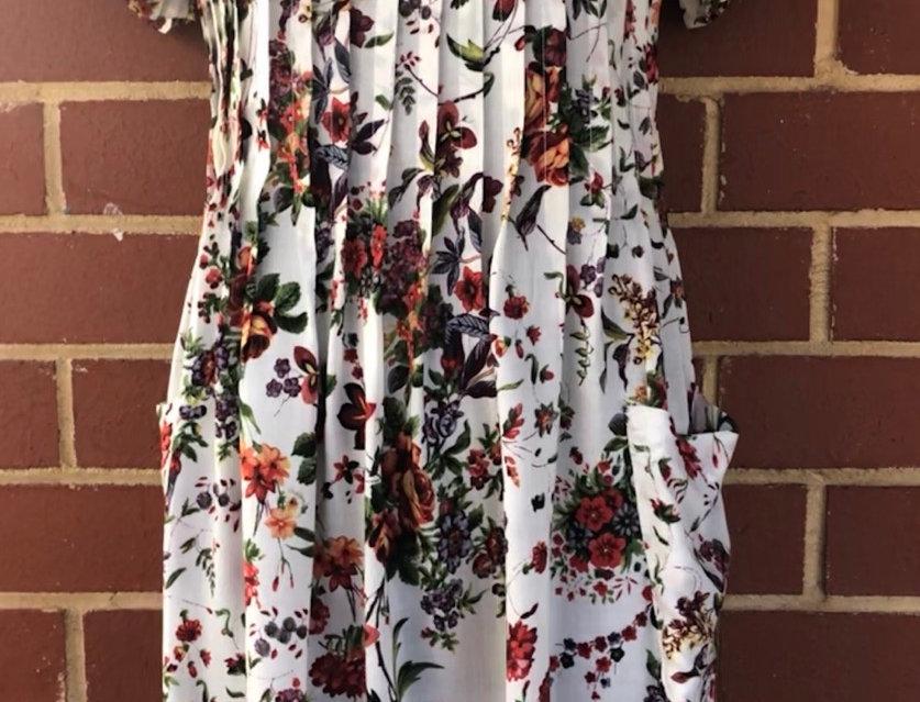 Pintuck Dress - Posies