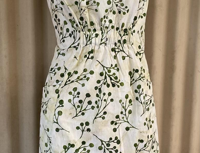 Gathered Dress - Bush Pods