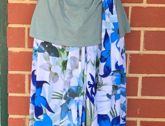 4 Way Angel Dress - Blue Lillies