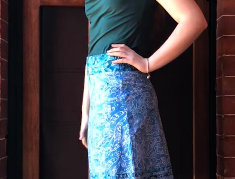 Retro Skirt - Waves