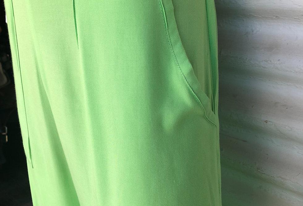 Simple Pants -Apple Green