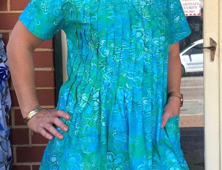 Pintuck Dress - cape Leveque