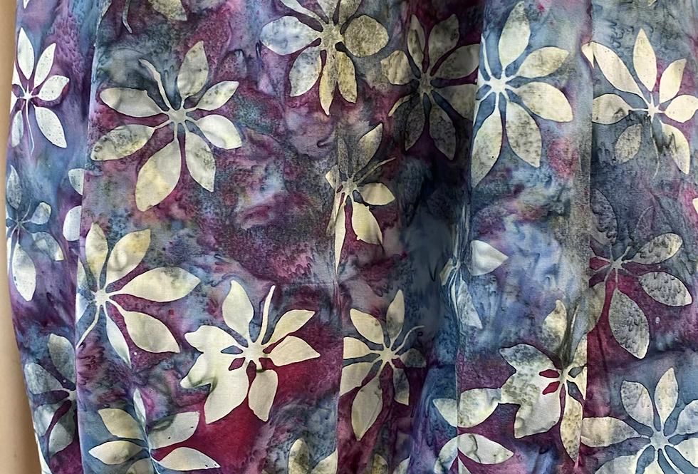 Gathered Dress - Bougainvillea