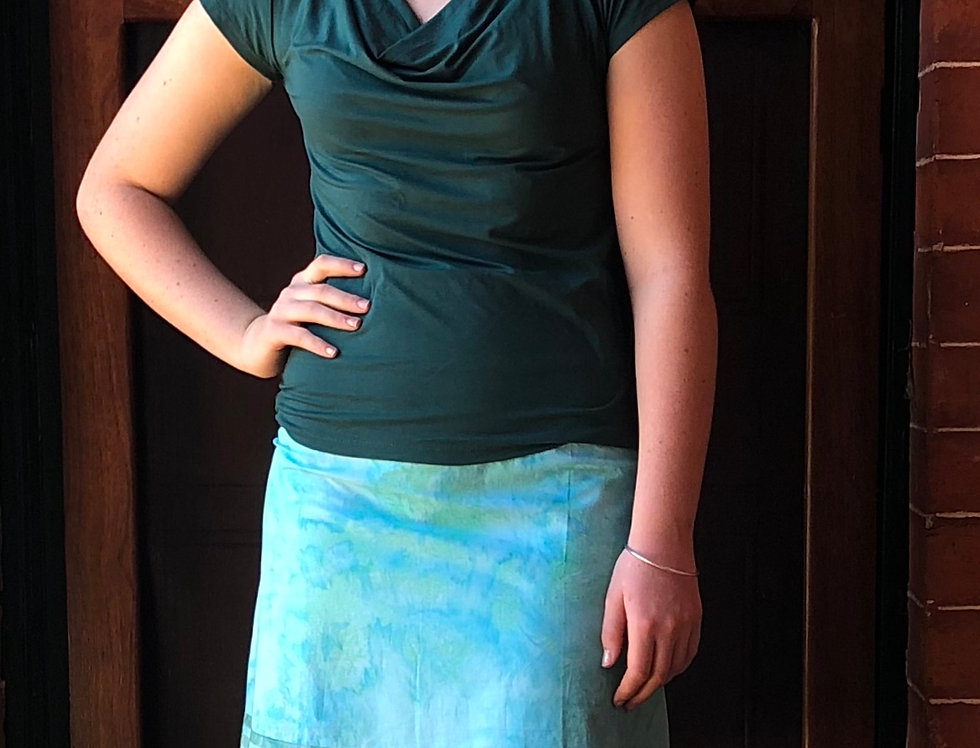 Retro Skirt - Ocean in Jade