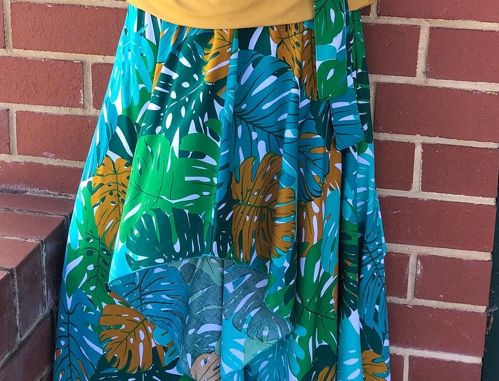 4 Way Angel Dress - Green Fronds
