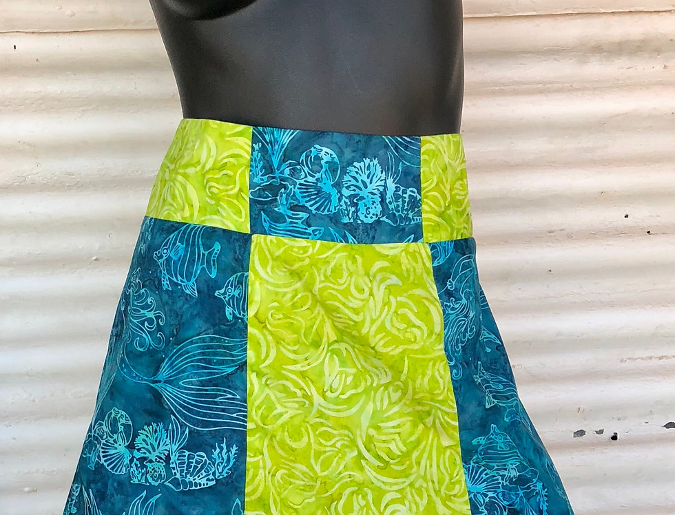 A-Line Skirt - Where Turtles Come Ashore