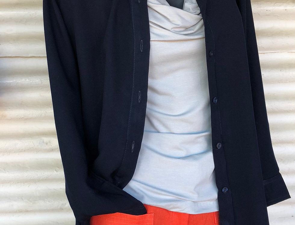 Dench Shirt - Navy  - Soft Cotton