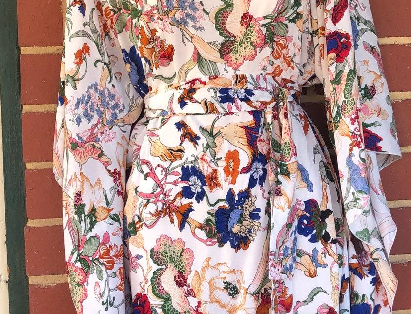 4 Way Angel Dress - Floral On Cream