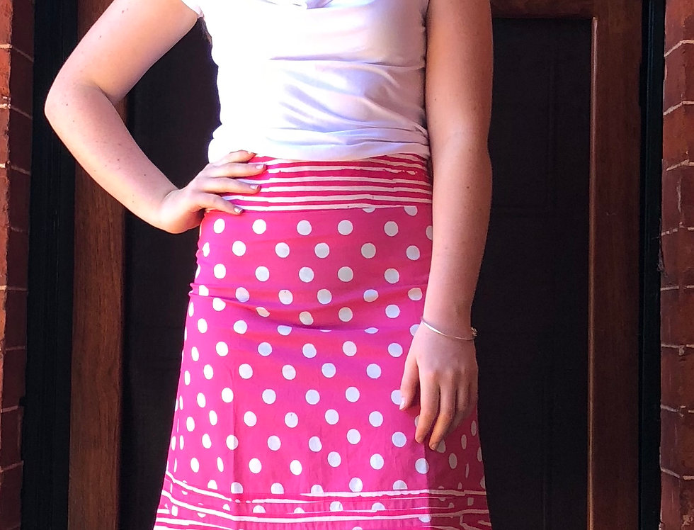 Retro Skirt - Polka Dots in Pink