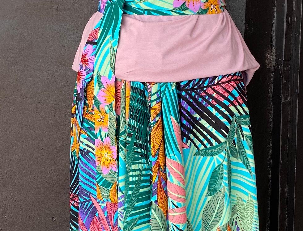 4 Way Angel Dress - Floral on Pale Aqua