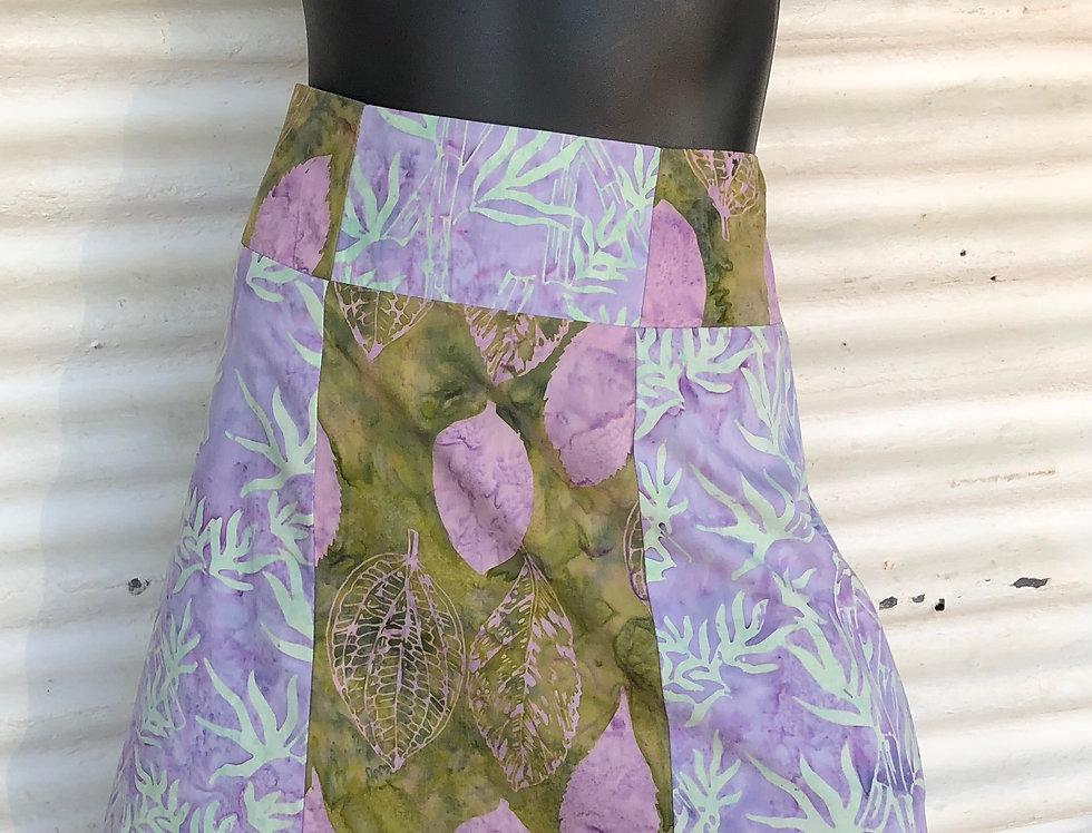 A-Line Skirt - Bamboo & Boab Leaves