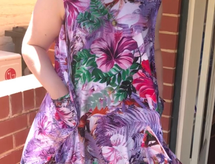 Tulip Dress -- Purple Fern