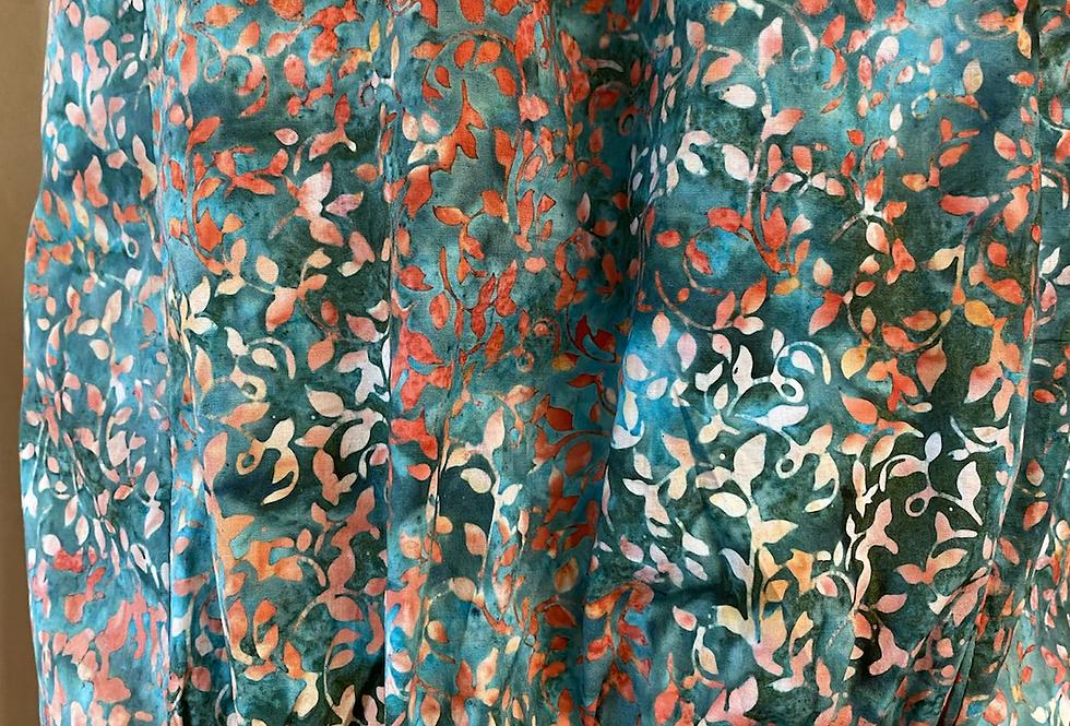 Gathered Dress - Pindan & Ocean