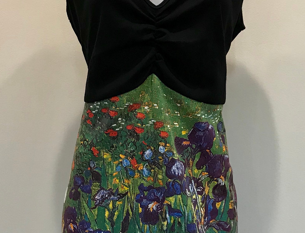Art Wear Dress - Van Gogh - Irises - Size 16