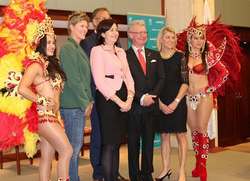 Premier, governor, atheletes and Ola Brazil representing Rio_#olabrazil2015  #samba #dancers #rio #o