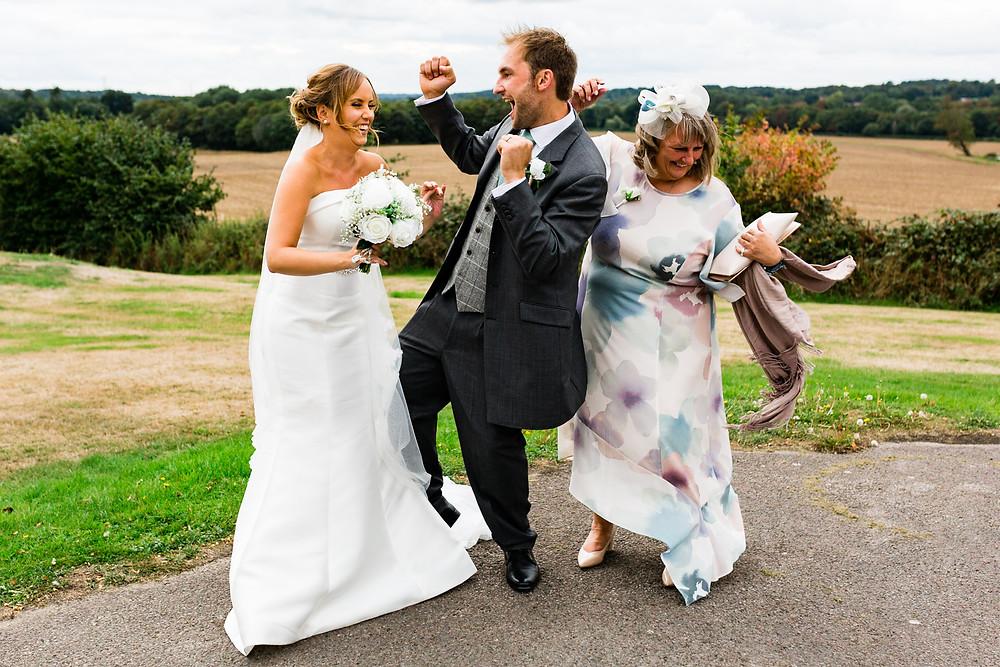bride and groom dancing at Wedding Reception at Rookesbury Park, Wickham