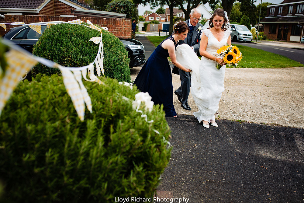 Wedding Photos outside St Mary's Church Gosport