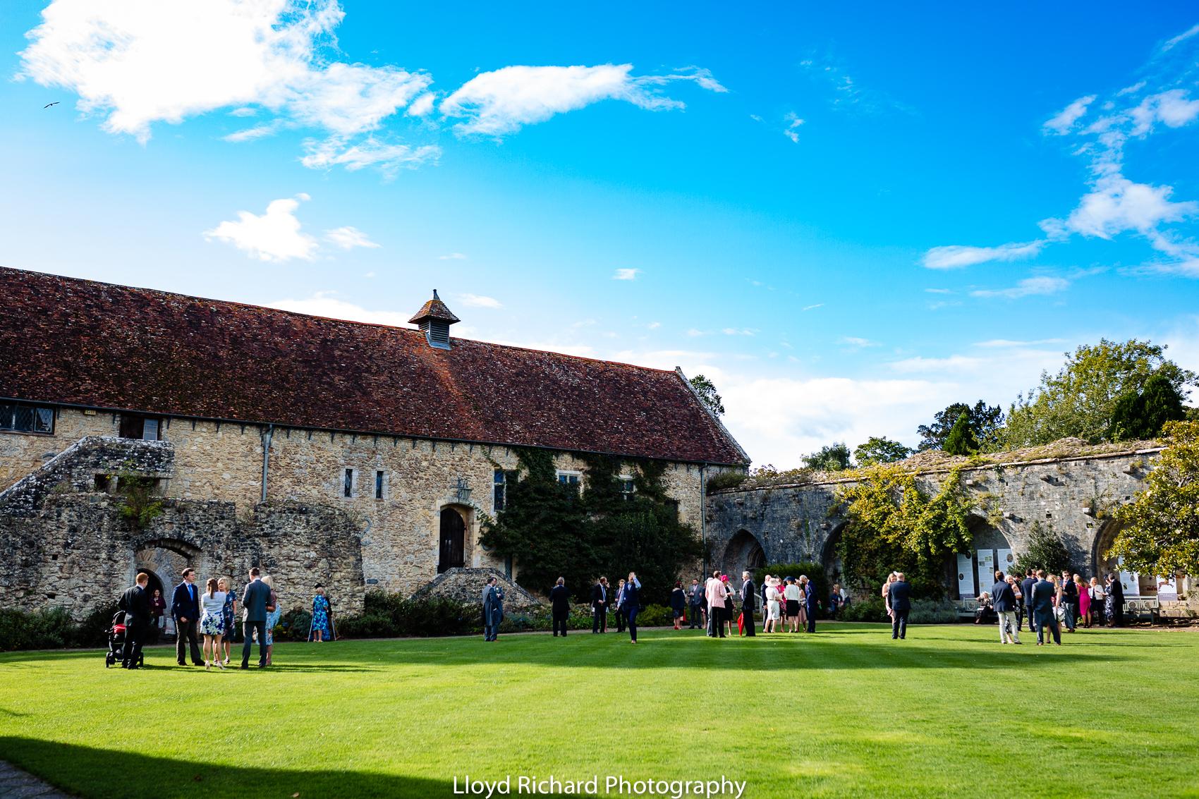 wedding reception at Beaulieu Abbey Domus