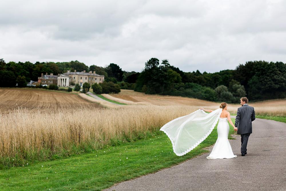 couple wedding portraits at Wedding Reception at Rookesbury Park, Wickham