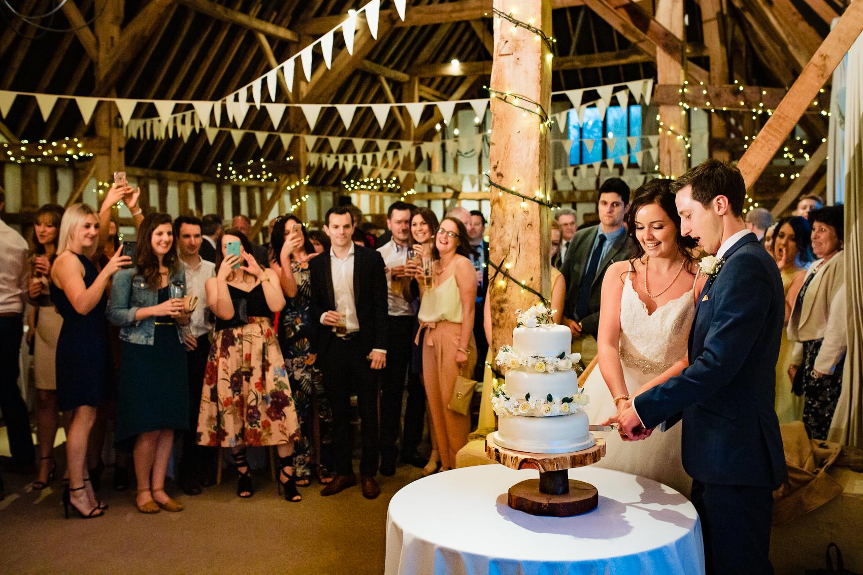 Cake Cutting at Clock Barn