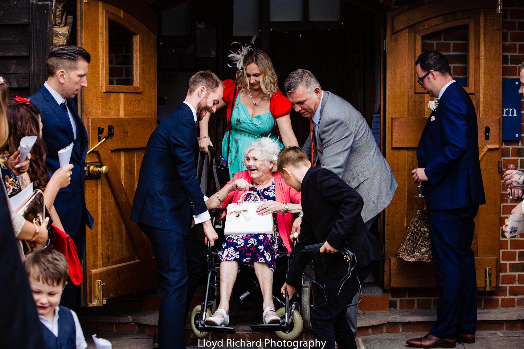 grandparent at wedding