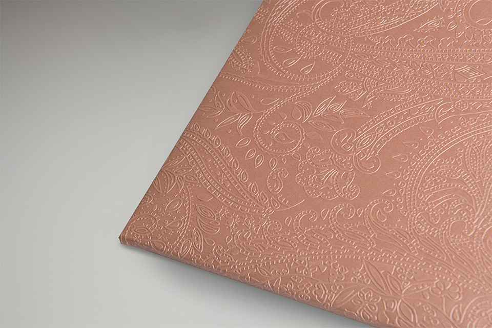 Metallic Rose Gold Paisley
