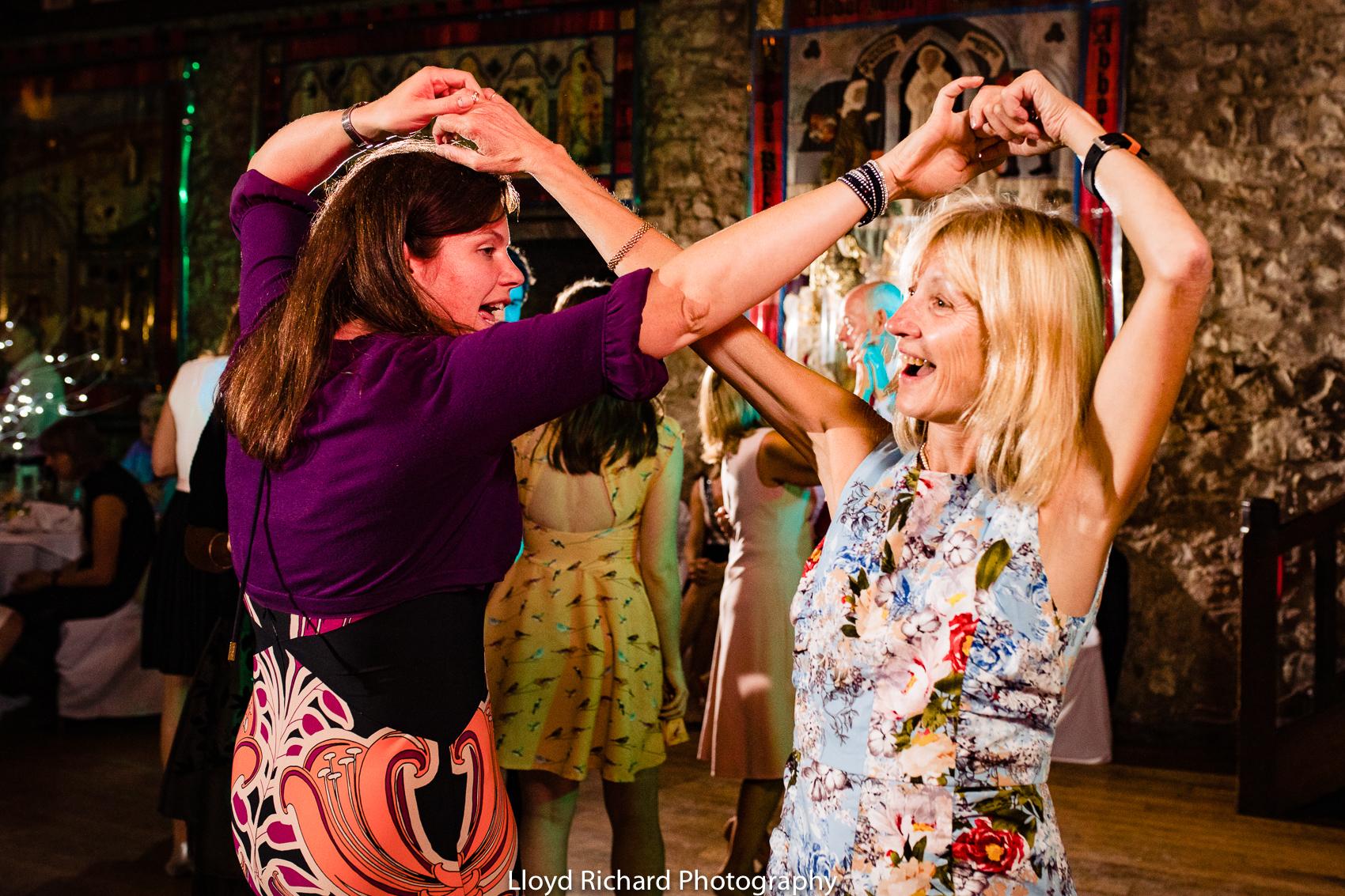wedding guest dancing Beaulieu Abbey Domus