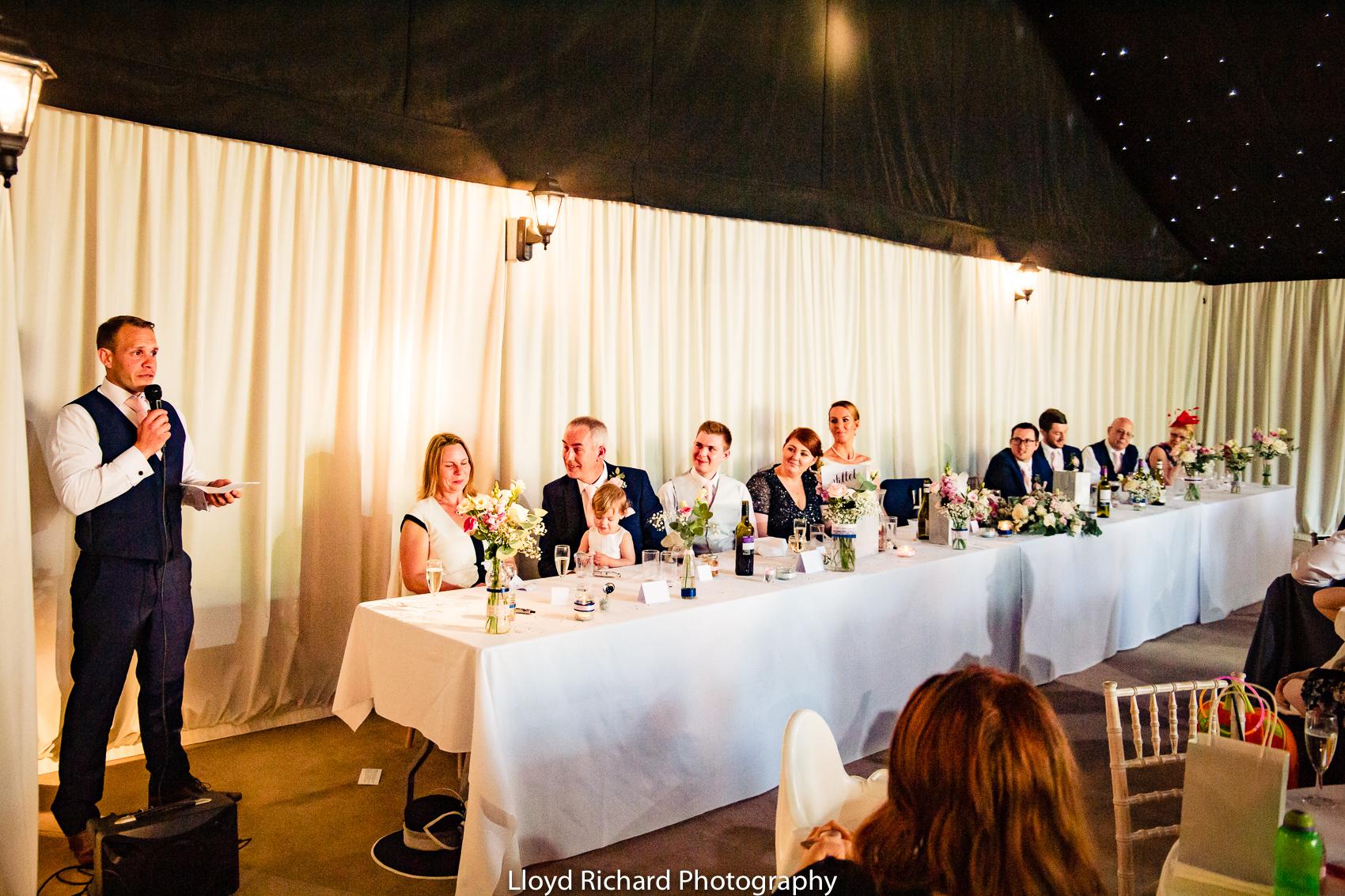 wedding speeches at Pitt Hall Barn