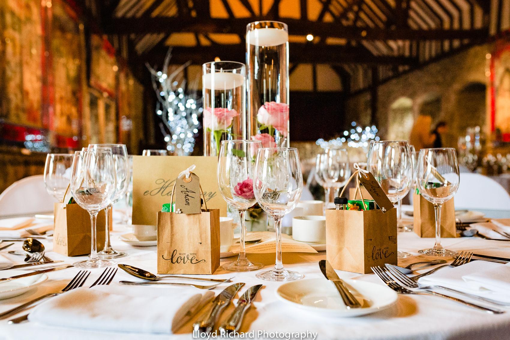 wedding table dressing at Beaulieu Abbey Domus