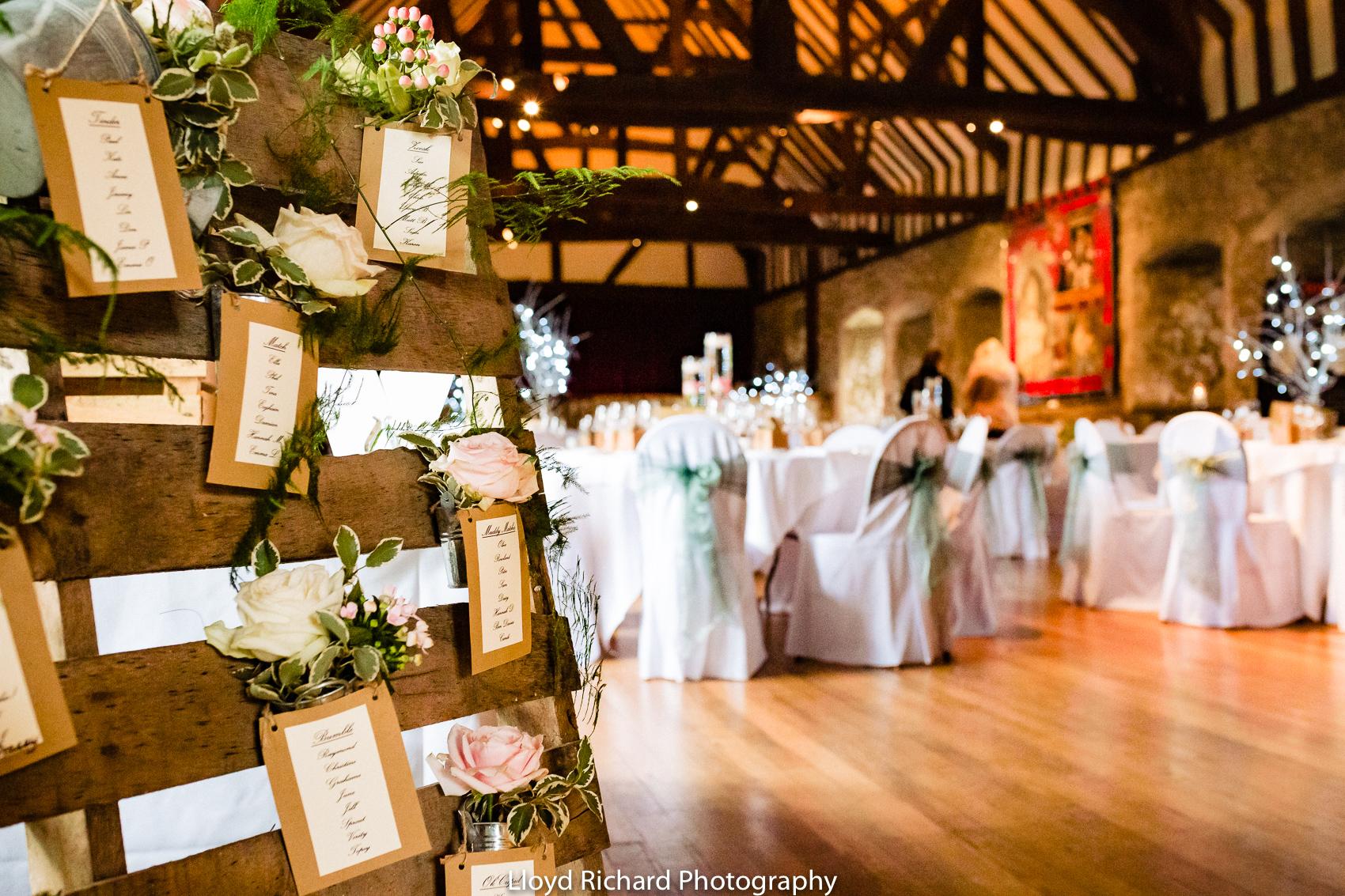 wedding decoration at Beaulieu Abbey Domus