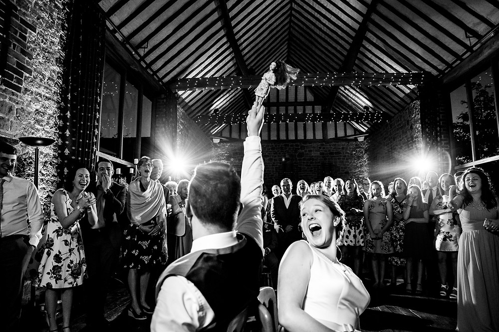 Mr and Mrs game at Bartholomew Barn