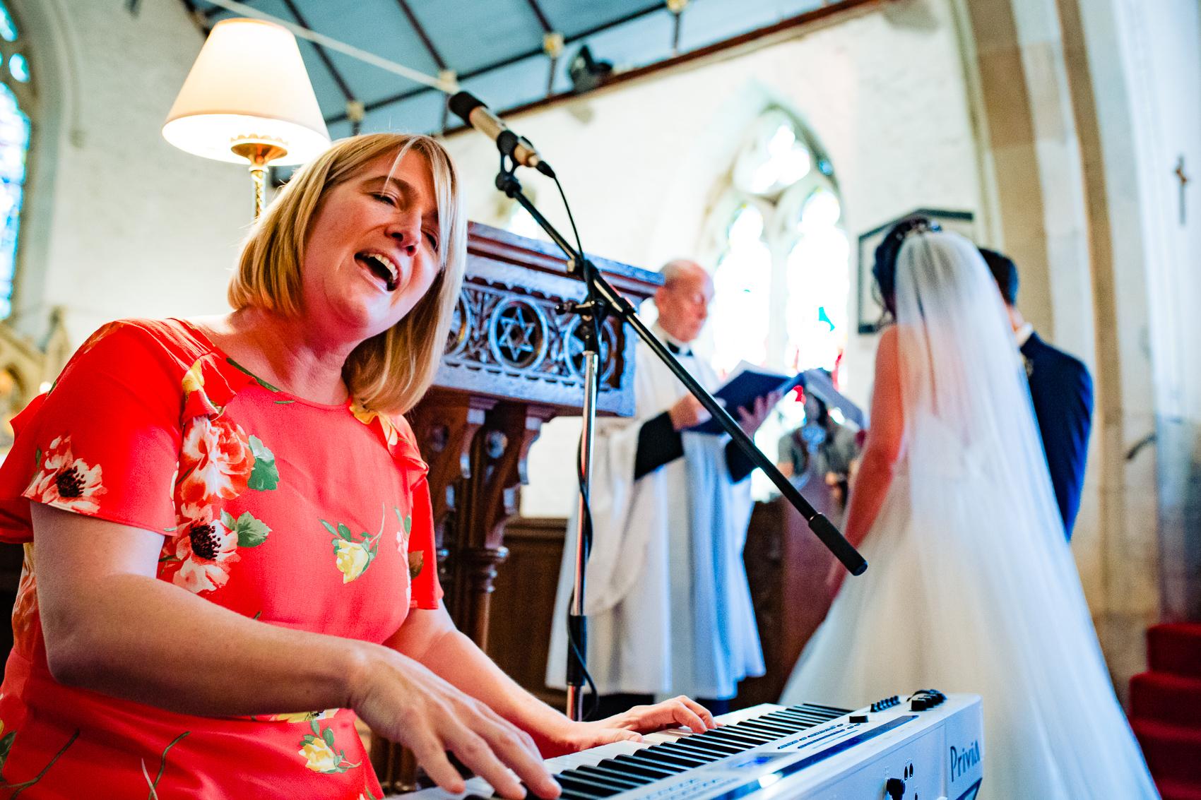 singer at St Leonard's Church Sherfield on Loddon