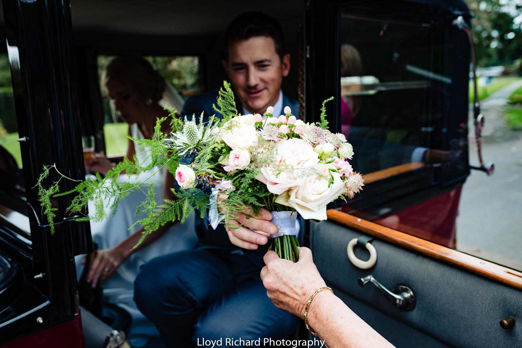 wedding bouquet Beaulieu Abbey Domus