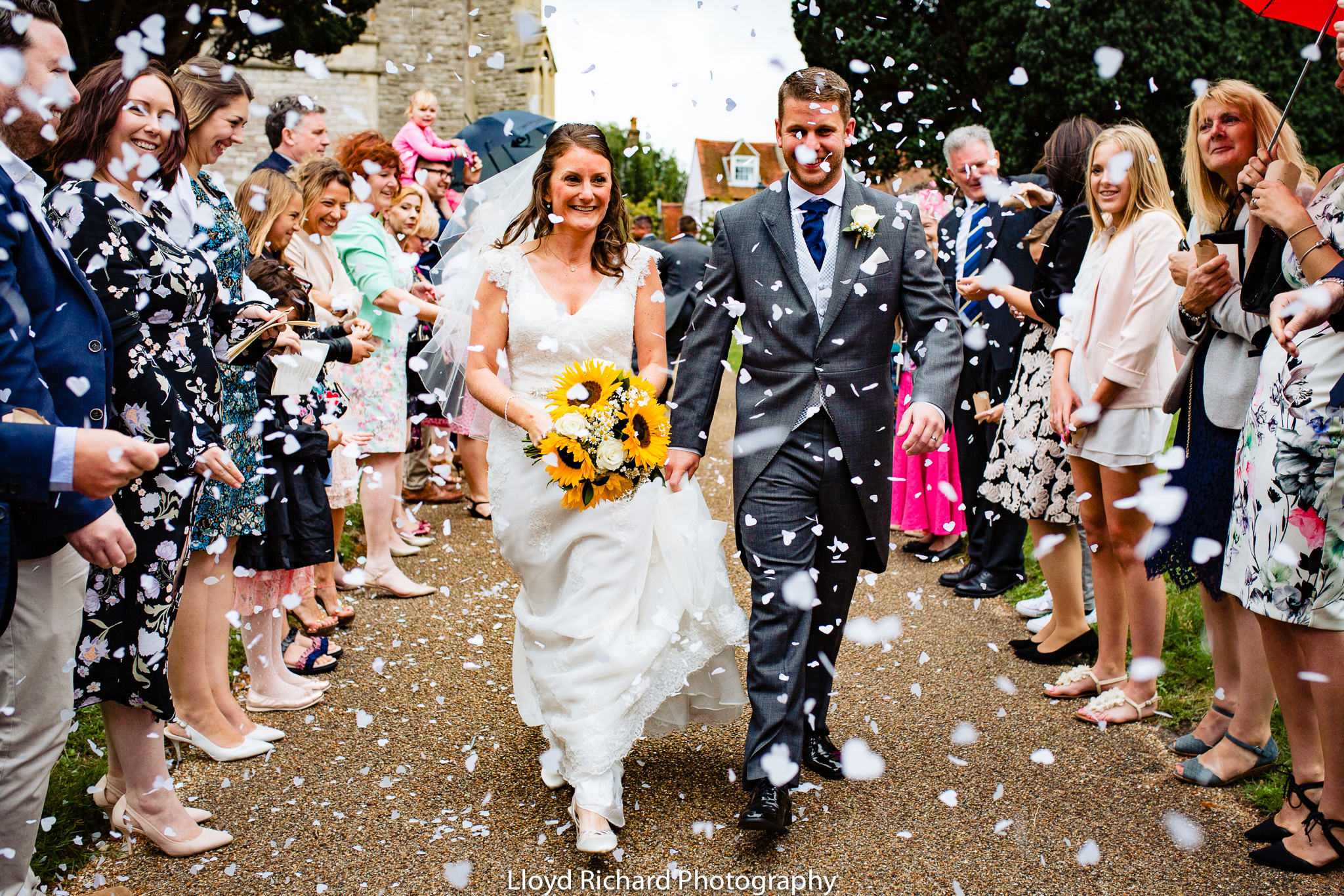 confetti at St Mary's church Gosport