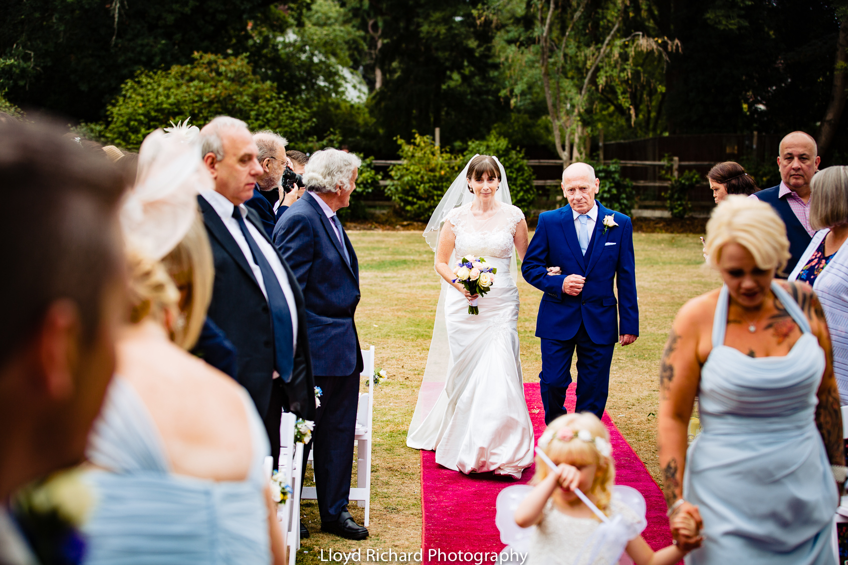 Outdoors wedding at Moorhill House Hotel