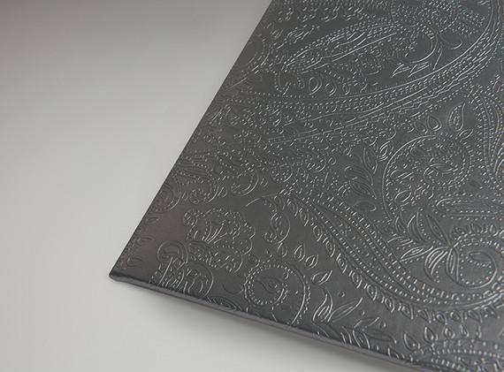 Metallic Grey Paisley