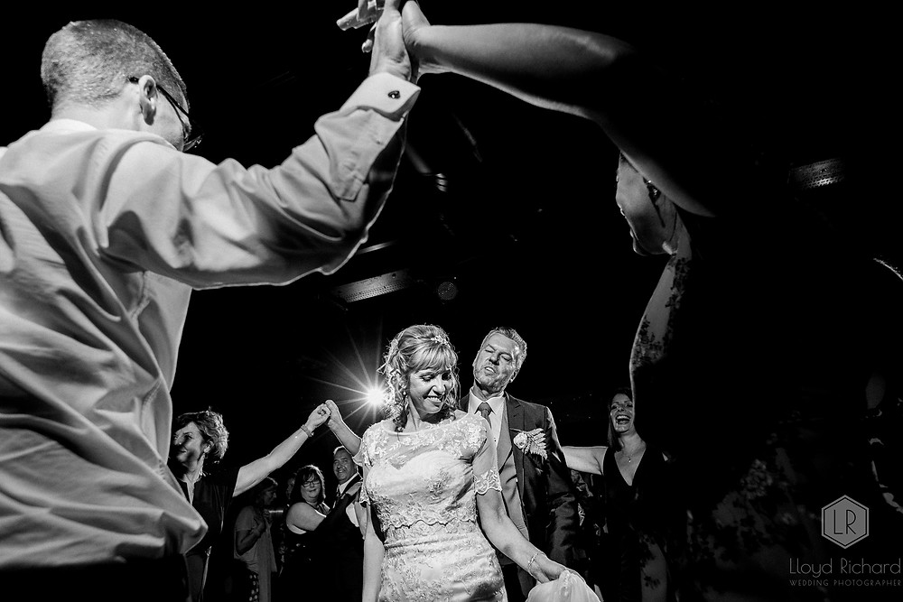 bride and groom dancing at spinnaker tower wedding