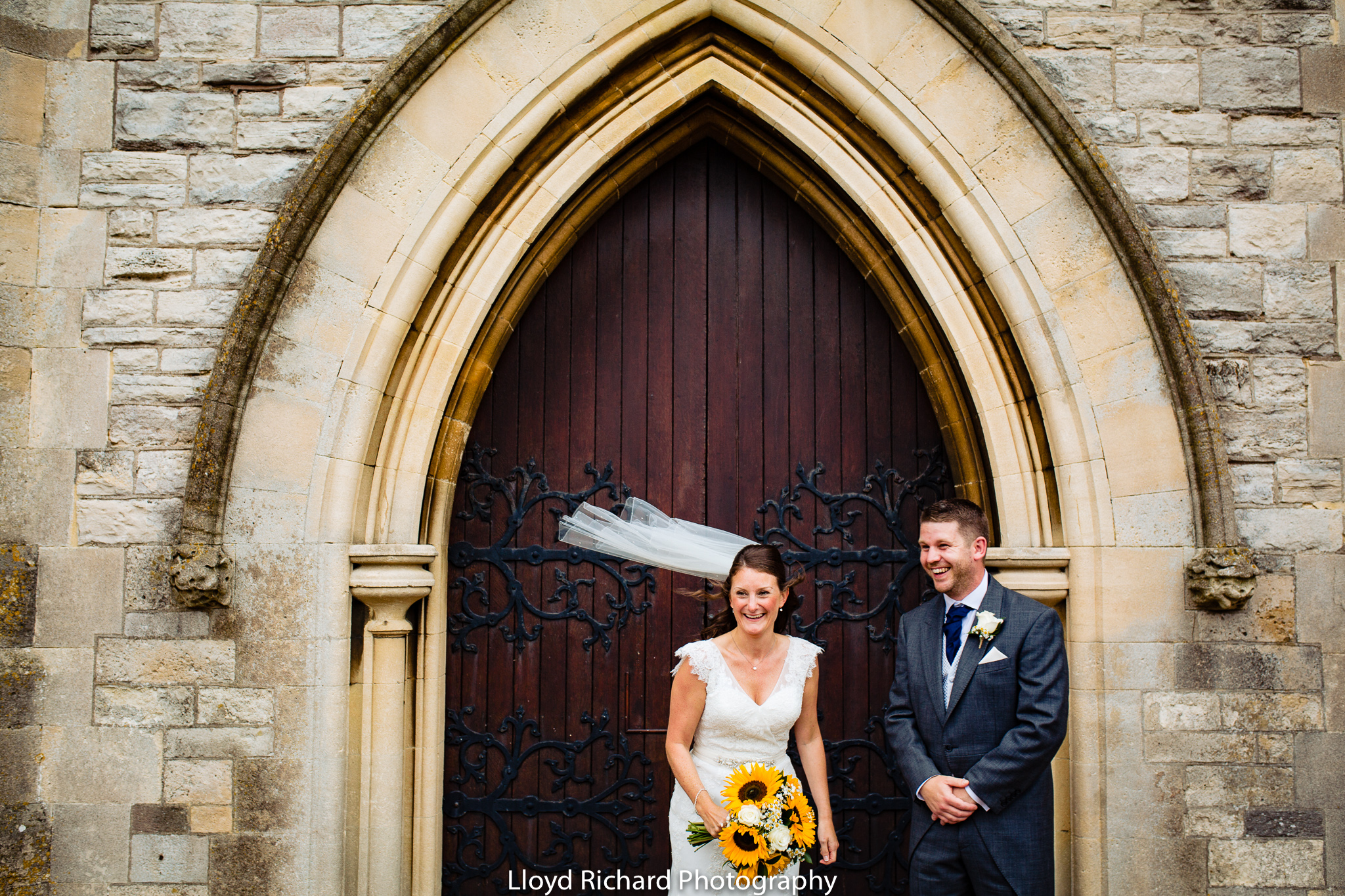 married couple at St Mary's church Gosport