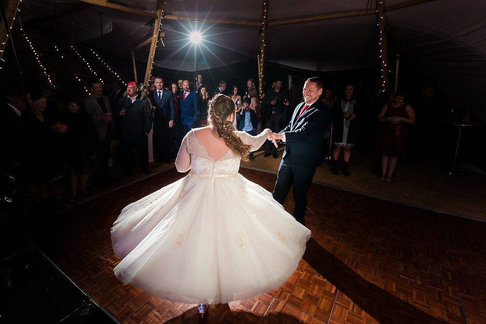 Wedding first dance in Tipi