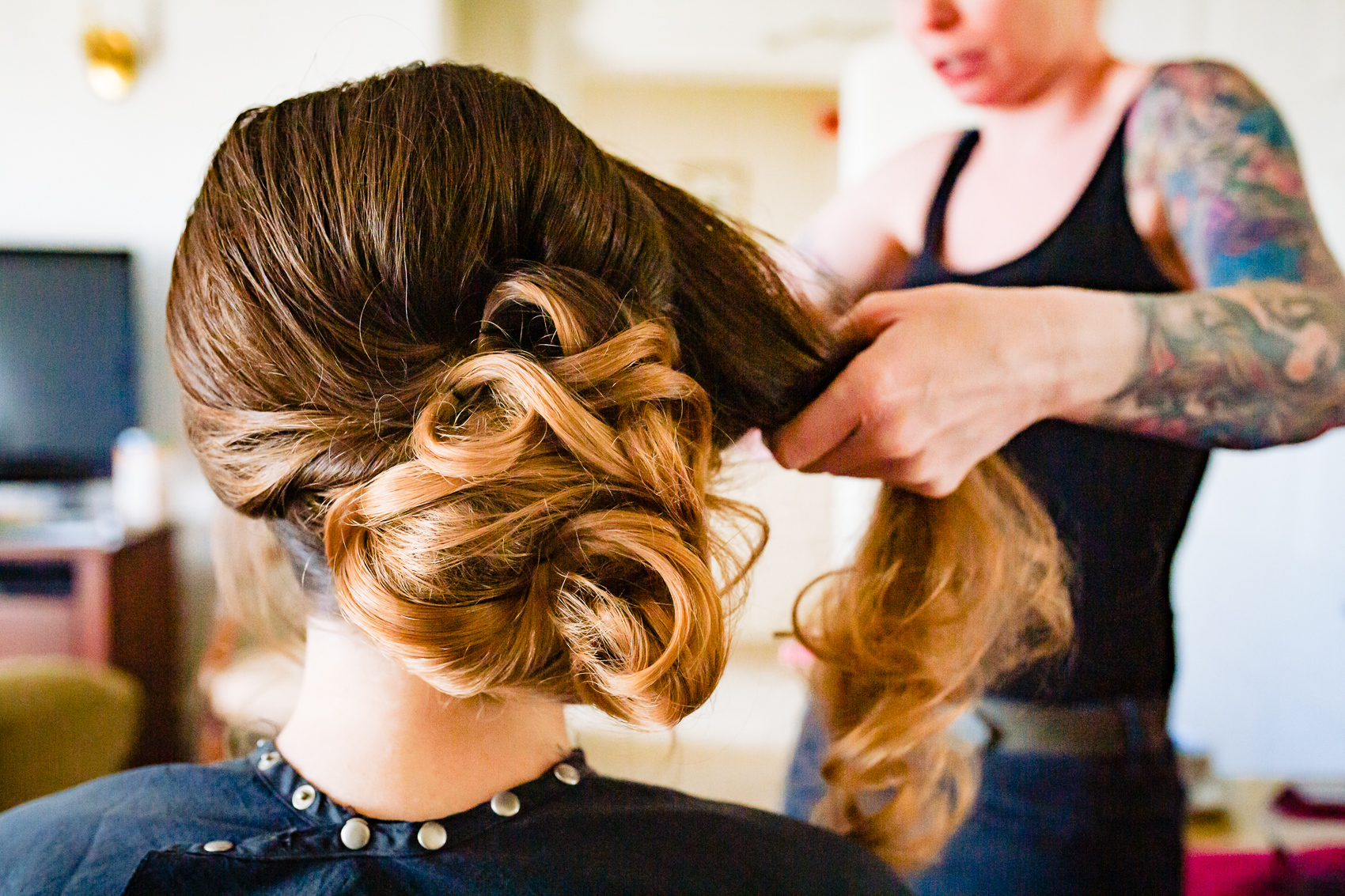 Bridal Hair at Audleys Wood Jane Austen Suite