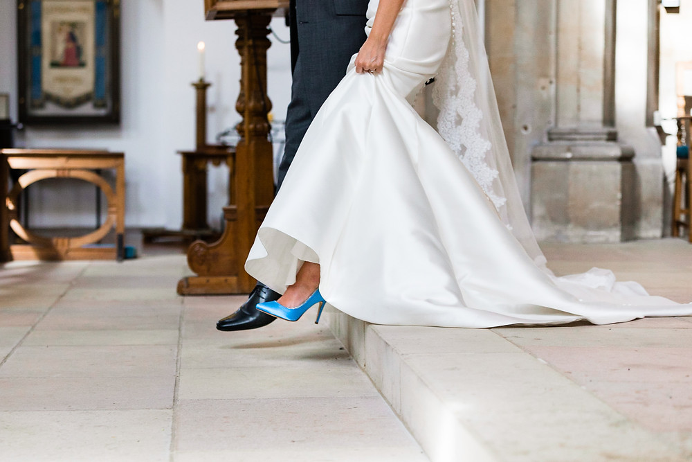 blue cyan wedding shoes