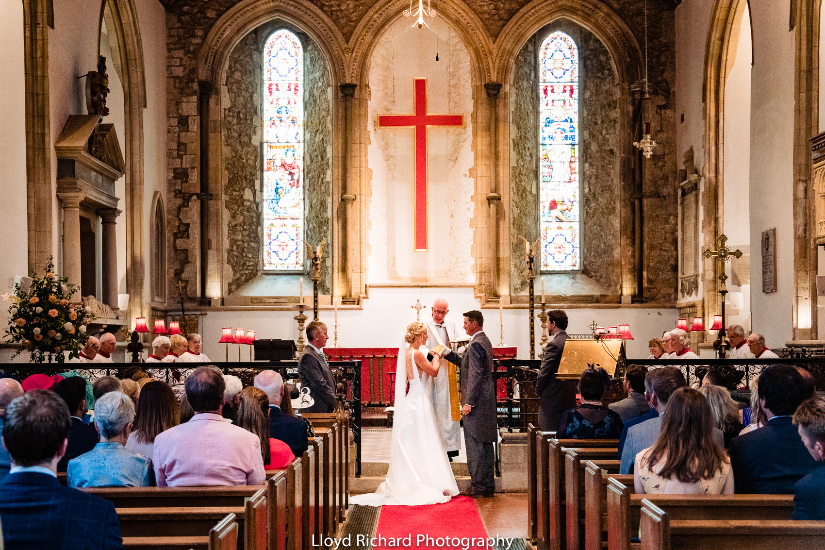 bride and groom getting married at Beaulieu Abbey Domus